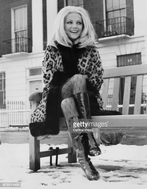 Italian actress Virna Lisi on a snowy day in Chelsea London 11th December 1967 She is in the capital to work on the film 'Better A Widow'