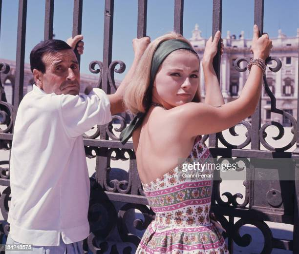 Italian actress Virna Lisi with th French French filmmaker Christian Jacques in Madrid Madrid Castilla La Mancha Spain