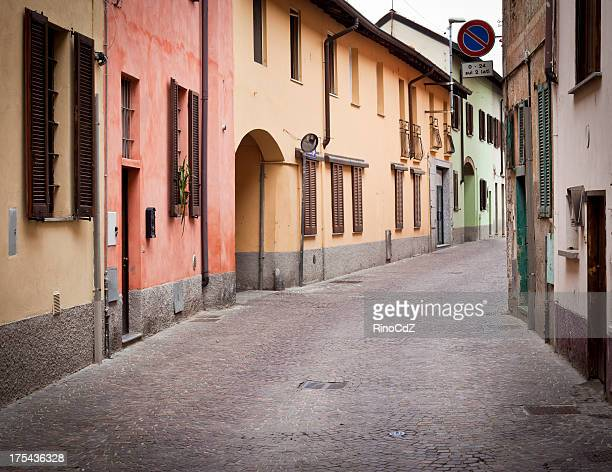 Italian Alley With Colorful Houses