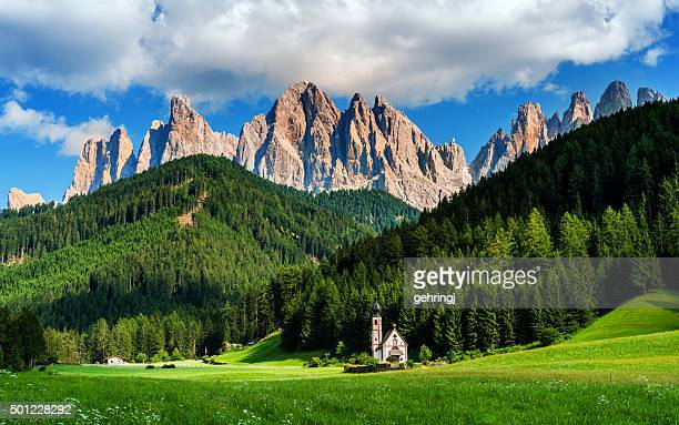 Italian Alps in Funes walley, Dolomites