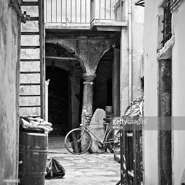Italian antique architecture black and white