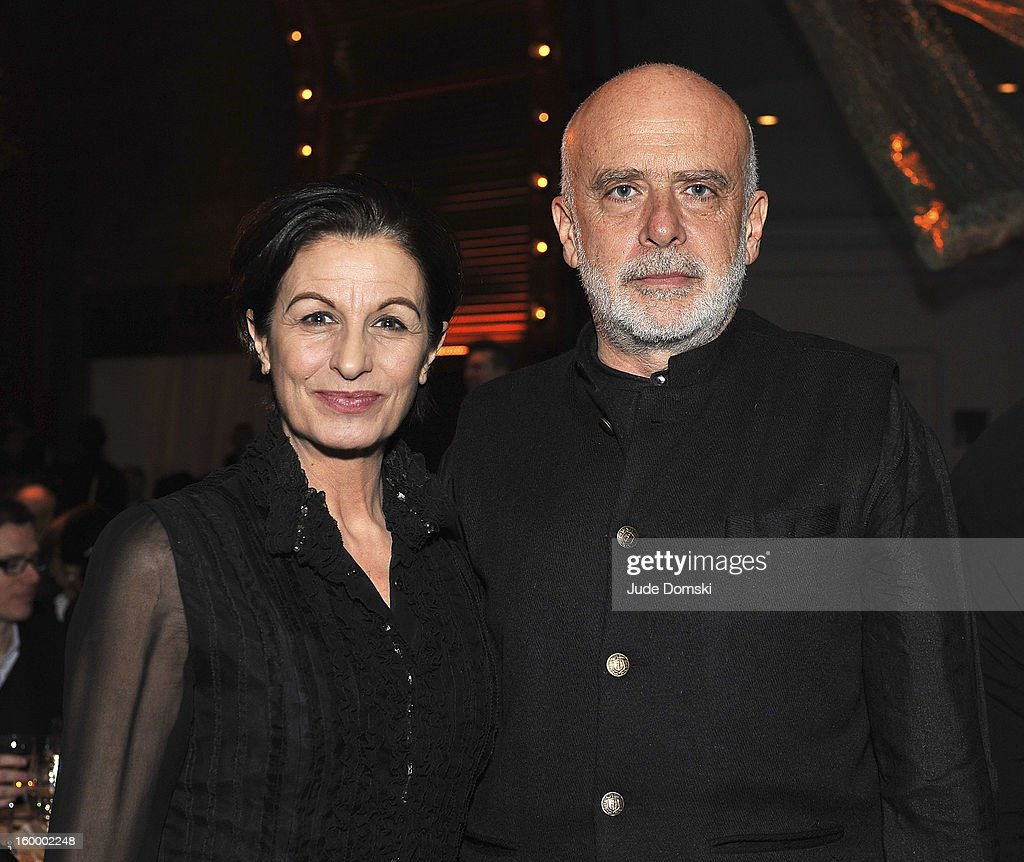 Italian artist <a gi-track='captionPersonalityLinkClicked' href=/galleries/search?phrase=Francesco+Clemente&family=editorial&specificpeople=853209 ng-click='$event.stopPropagation()'>Francesco Clemente</a> (right) and his wife Alba Clemente attends the 2013 BAM Theater Gala at Brooklyn Academy of Music on January 24, 2013 in the Brooklyn borough of New York City.