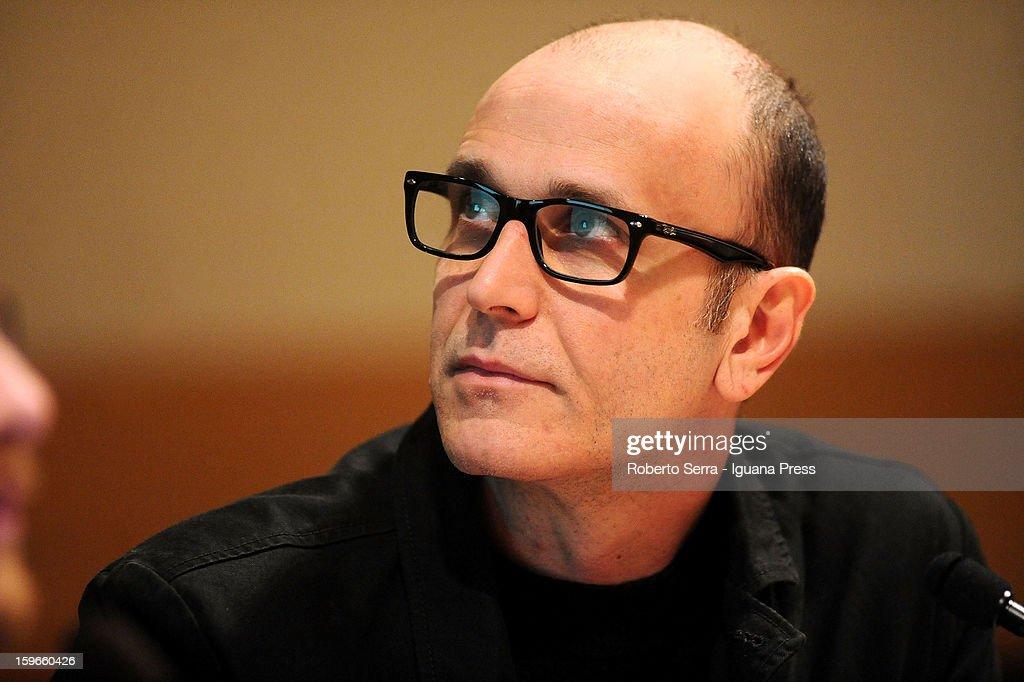 Italian author and musician Emidio Clementi attends the 'Nastro di Moebius' conference at San Giorgio in Poggiale Library on January 16, 2013 in Bologna, Italy.