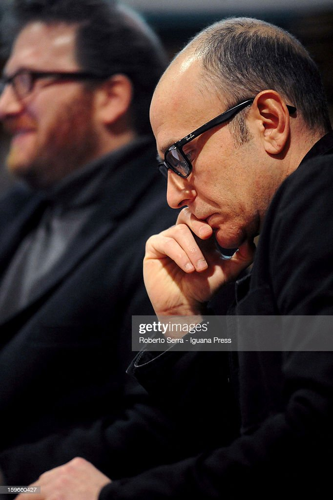 Italian author and musician Emidio Clementi attends the 'Nastro di Moebius' conference at San Giorgio in Poggiale Library on January 16, 2013 in Bologna, Italy.