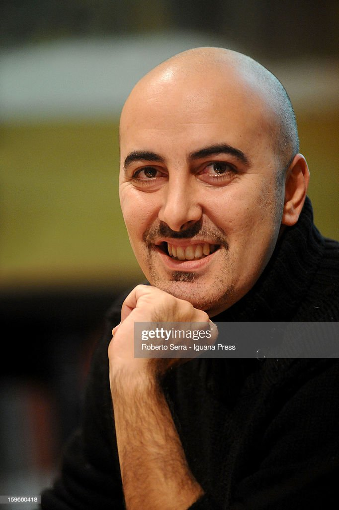 Italian author and writer Gianluca Morozzi attends the 'Nastro di Moebius' conference at San Giorgio in Poggiale Library on January 16, 2013 in Bologna, Italy.