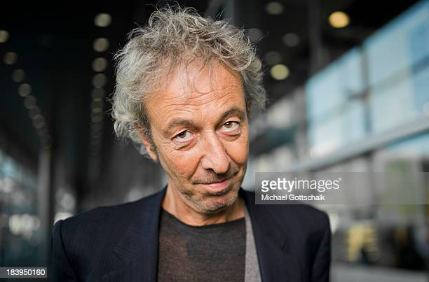 Italian Author Luca di Vulvio poses during a portrait session at the 2013 Frankfurt Book Fair on October 10 2013 in Frankfurt Germany This year's...