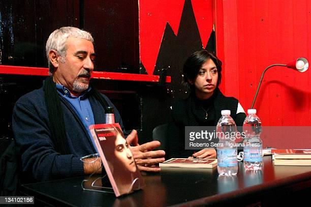 Italian author Pino Cacucci present his book 'Tina' about Tina Modotti with journalist Damiana Aguiari at Dans La Rue social center on November 23...