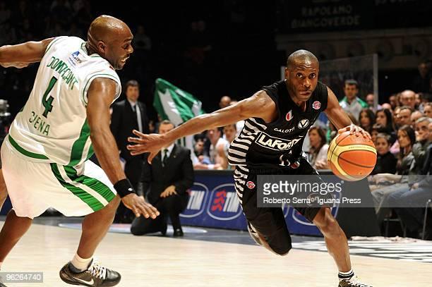 Italian Basketball Championship 2008/2009 TIM CUP final eight Coppa Italia Virtus La Fortezza Bologna vs Mens Sana Monte dei Paschi Siena Earl...