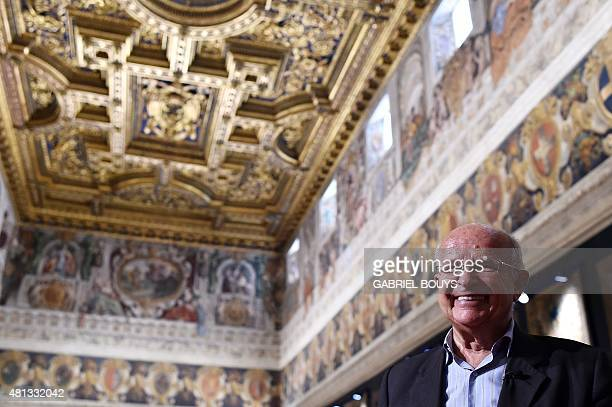 Italian Belgianborn Advisor for the Preservation of the Artistic heritage of the Italian President Louis Godart poses in the Napoleonic apartments in...