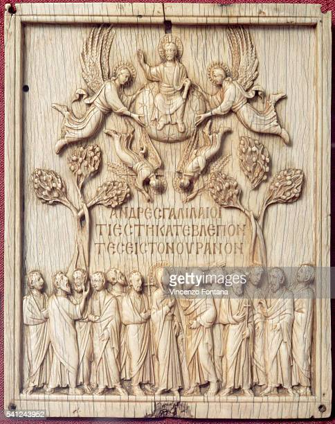 Italian Bone Carving of Ascension of Jesus Christ