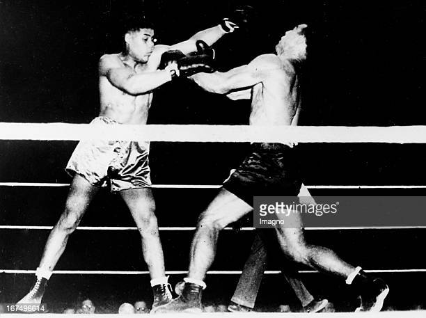 Italian boxer and 1933/34 world heavyweight champion Primo Carnera in his fight with the USamerican boxer and world heavyweight champion Joe Louis...
