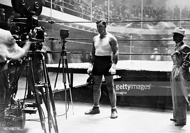 Italian boxer and 1933/34 world heavyweight champion Primo Carnera in training before his fight against Jack Sharkey in New York June 1931 Photograph...