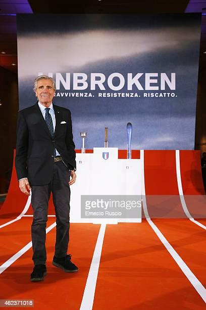 Italian boxer Nino Benvenuti attends the 'Unbroken' screening at Auditorium Parco della Musica on January 27 2015 in Rome Italy