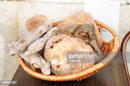 Italian bread basket : Stock Photo