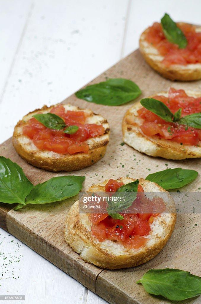 Italian bruschetta : Stock Photo
