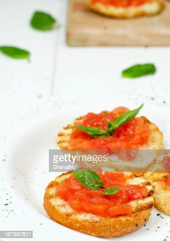 Italienische Bruschetta : Stock-Foto