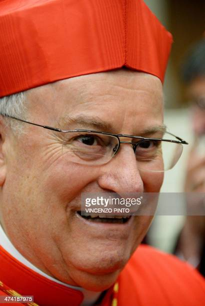 Italian Cardinal Gualtiero Bassetti greets visitors during a courtesy visit after being appointed cardinal by the Pope during a consistory in St...