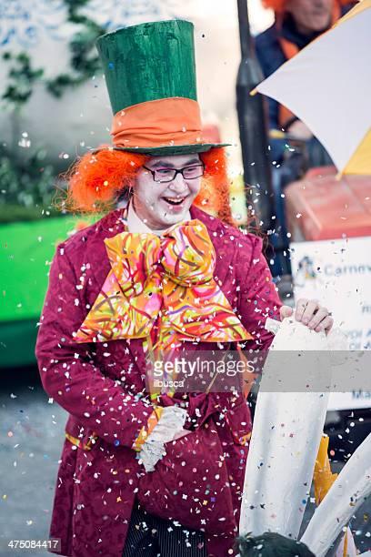 Italian Carnival celebration parade in small town