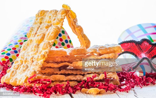 Italian carnival pastry, sweets : Stock Photo