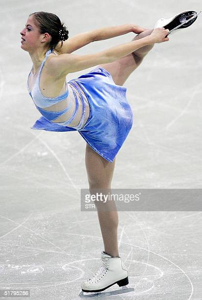 Italian Carolina Kostner performs during the Cup of Russia ISU Grand Prix of Figure Skating in Moscow 26 November Kostner took the second place AFP...