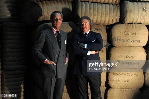 Italian cashmere tycoon brothers Sergio and Pier Luigi Loro Piana at the Roccapietra factory near Milan For six generations the company Loro Piana...