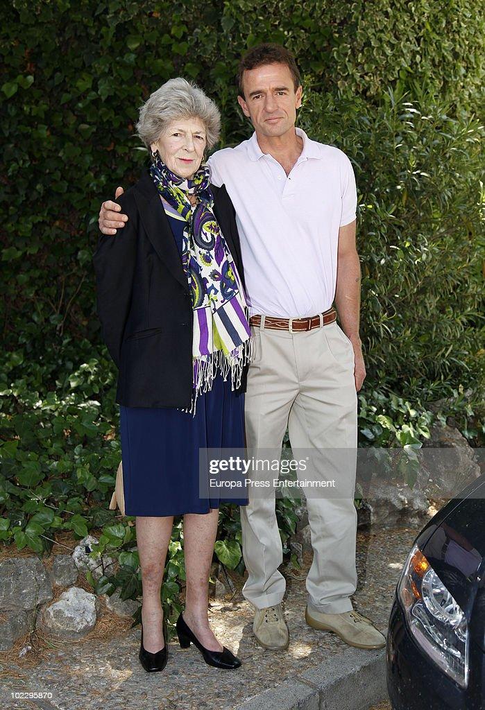 Italian celebrities Alessandro Lequio and Sandra Torlonia are seen sighting on June 22, 2010 in Madrid, Spain.
