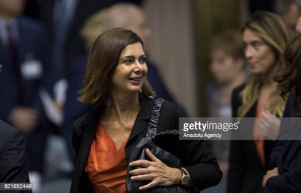 Italian Chamber of Deputies' President Laura Boldrini attends the 12th Conference of the Ambassadors of Italy at the Farnesina Italian Foreign...