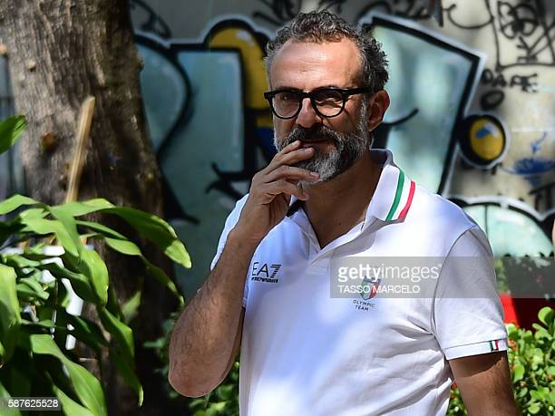 Italian chef Massimo Bottura walks in Rio de Janeiro as the Rio 2016 Olympic Games are being held in Brazil on August 9 2016 Restaurantgoers usually...