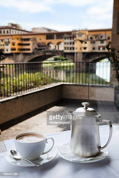 Café italiano: Ponte Vecchio de Florencia