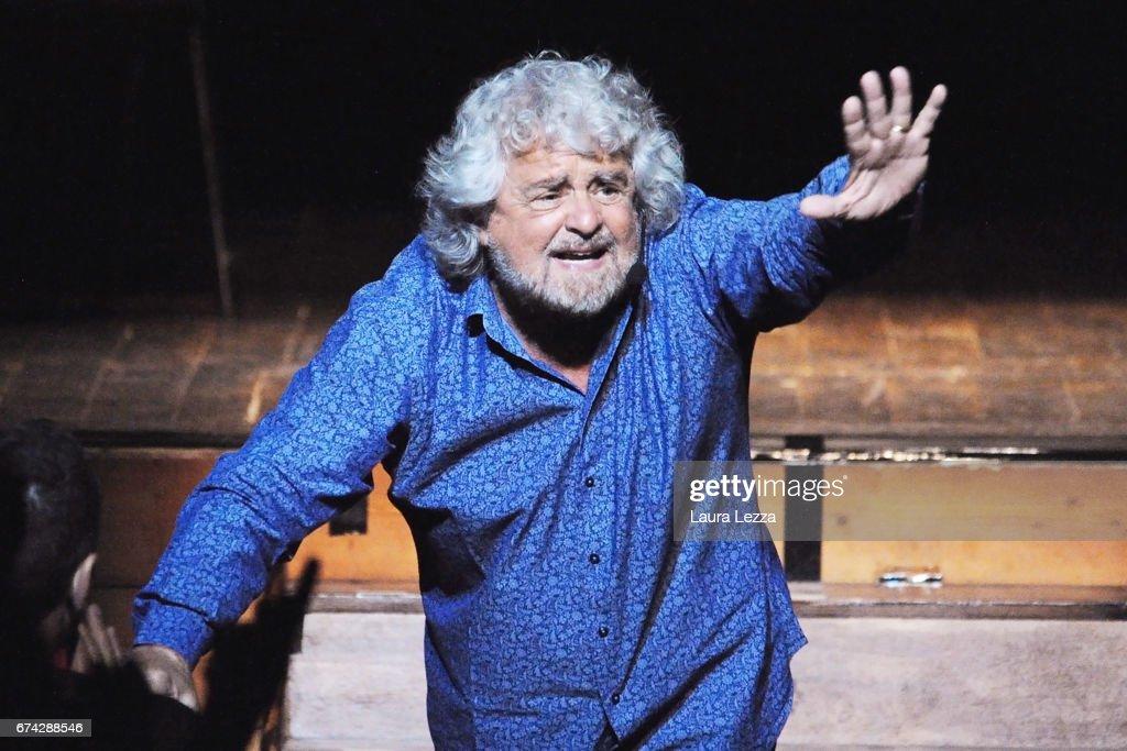 Beppe Grillo Performs In 'Grillo Vs Grillo' In Livorno