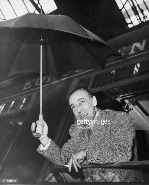 Italian comic actor Toto arriving at the Gare de Lyon Paris on a train from Milan 22nd January 1951