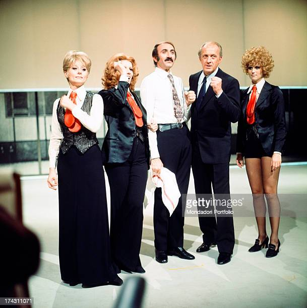 Italian comic actress Sandra Mondaini Italian singer and presenter Iva Zanicchi Italian presenter Pippo Baudo Italian actor and presenter Raimondo...