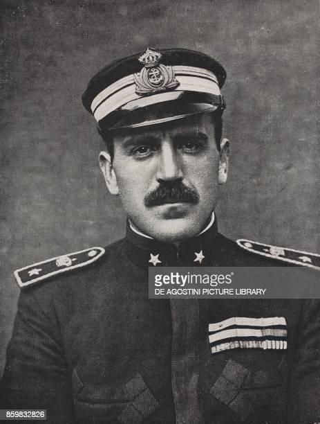 Italian Commander Luigi Rizzo who sank on June 10 1918 the Austro Hungarian battleship SMS Szent Istvan World War I from l'Illustrazione Italiana...