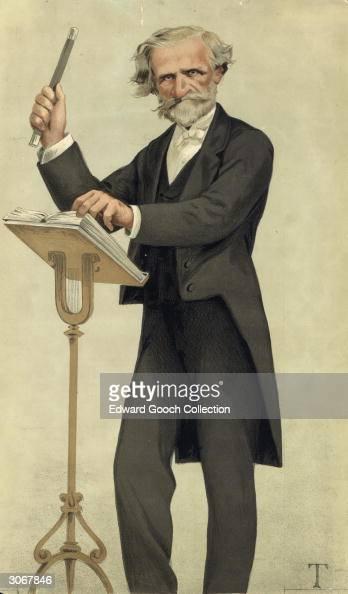 Italian composer Giuseppe Verdi Illustration from Vanity Fair 15th February 1879