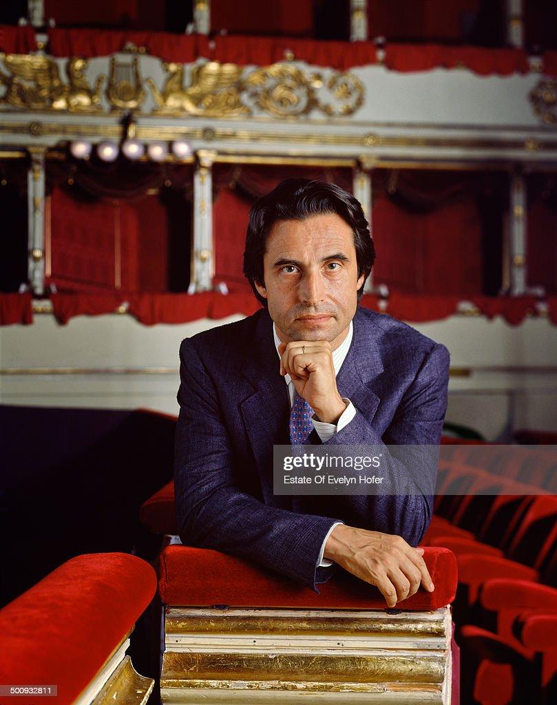 Italian conductor Riccardo Muti, Milan, Italy, 1990.