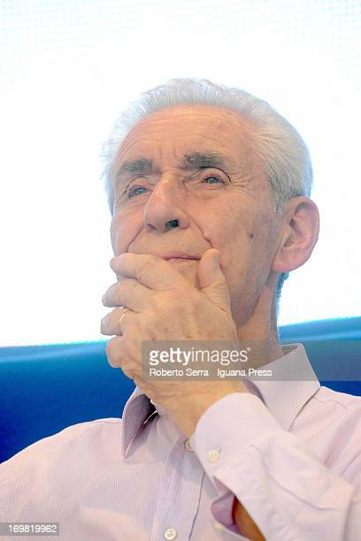 Italian constitutional lawyer Stefano Rodota attends the 'Non è Cosa Vostra' political event at Santo Stefano square on June 2 2013 in Bologna Italy