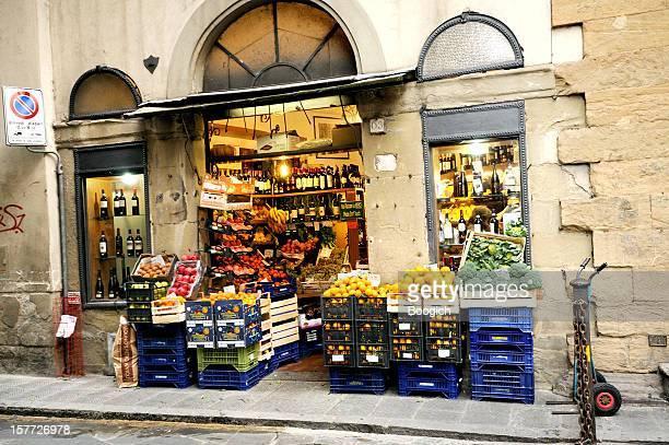 Italian Corner Market Shop Selling Produce in Florence