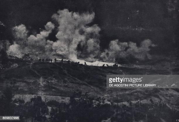 Italian counterattack on Montello June 18 Battle of Piave Italy World War I from l'Illustrazione Italiana Year XLV No 26 June 30 1918