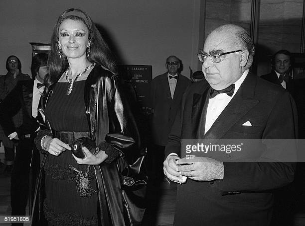 Italian countess Maria Louisa Rizzoli and her husband Italian publisher Andrea Rizzoli arrive at Ruhl Casino in Nice South of France 17 January 1976