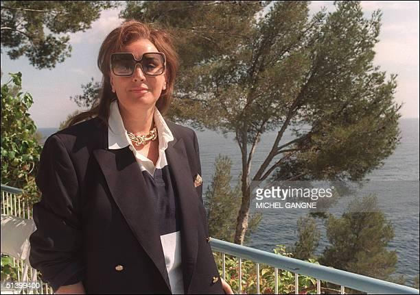 Italian countess Maria Louisa Rizzoli widow of Italian publisher Andrea Rizzoli pose for the photographer in her villa in SaintJeanCapFerrat South of...