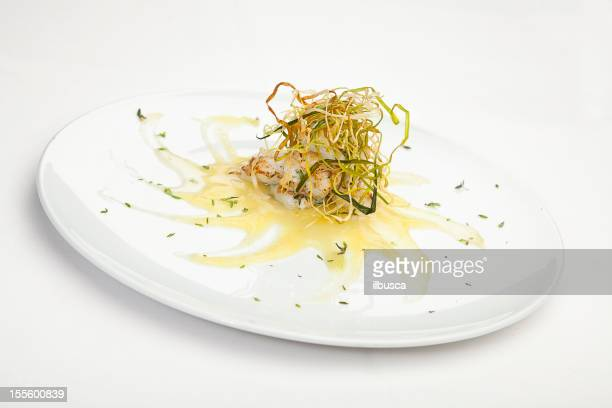 Italian cuisine series: Peter's fish with thyme on leak cream