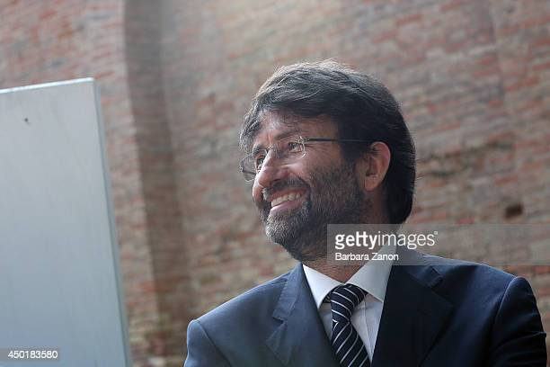 Italian Culture Minister Dario Franceschini attends the official opening of Italian Pavilion at Corderie dell'Arsenale during the opening of The 14th...