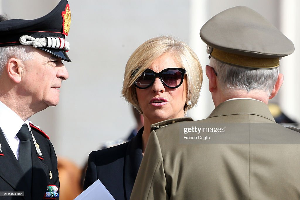 Italian Defence Minister Roberta Pinotti attends the Pope Francis' Jubilee Audience in St. Peter's Square on April 30, 2016 in Vatican City, Vatican. Pope Francis held an extraordinary Jubilee Audience in St. Peter's Square for thousands of eager pilgrims. The Audience also celebrated the Jubilee for members of the police and armed forces.