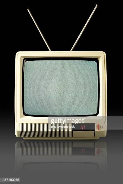 Televisão italiano design de modelo (1980) com ruído branco
