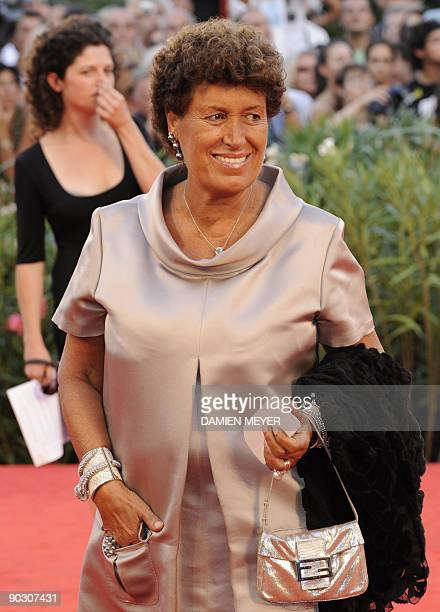Italian designer Carla Fendi arrives for the opening ceremony of the 66th Venice film festival on September 2 2009 AFP PHOTO / Damien Meyer
