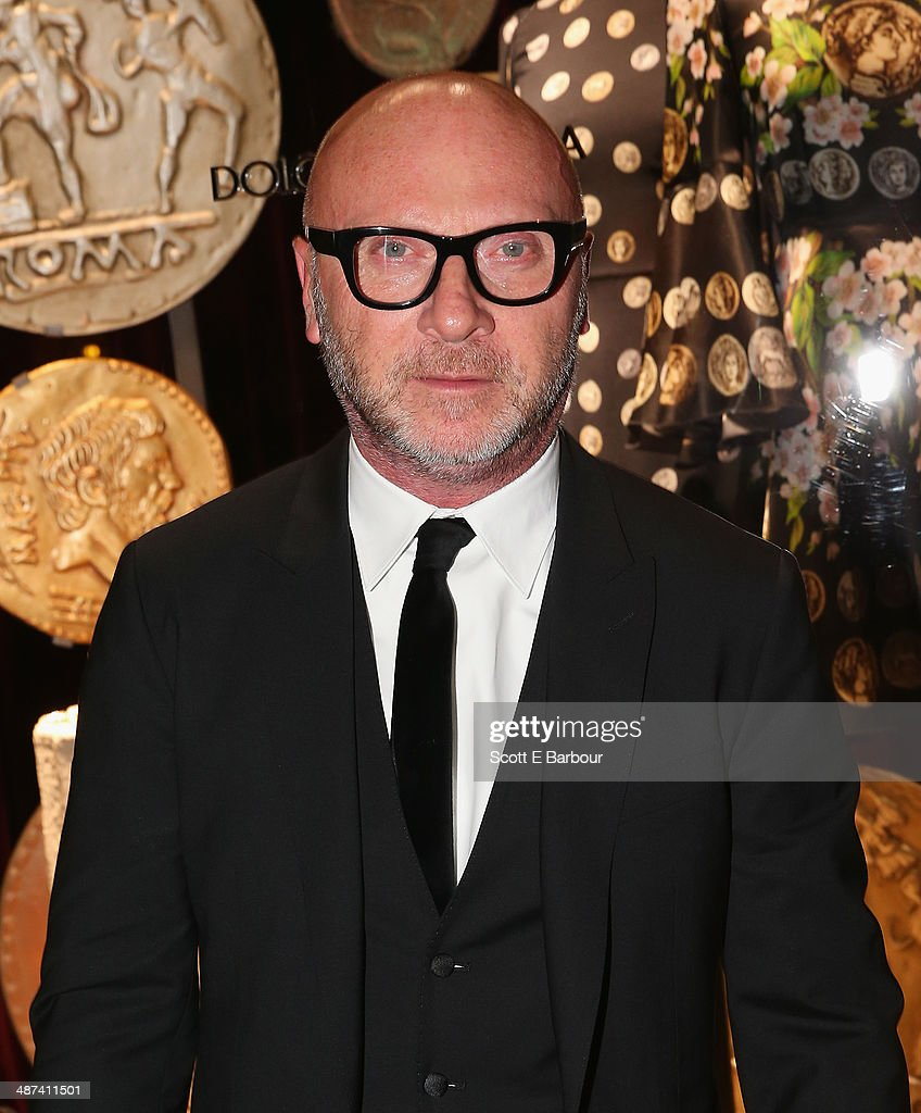 Italian designer <a gi-track='captionPersonalityLinkClicked' href=/galleries/search?phrase=Domenico+Dolce&family=editorial&specificpeople=534808 ng-click='$event.stopPropagation()'>Domenico Dolce</a> arrives at the Dolce & Gabbana Store party on Collins Street on April 30, 2014 in Melbourne, Australia.