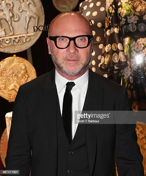Italian designer Domenico Dolce arrives at the Dolce Gabbana Store party on Collins Street on April 30 2014 in Melbourne Australia