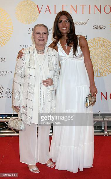 Italian designer Laura Biagiotti and her daughter Lavinia Biagiotti arrive at the post haute couture show gala dinner and ball in the Parco dei Daini...