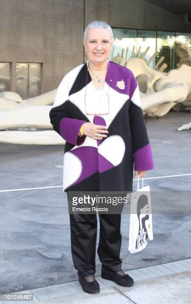 Italian designer Laura Biagiotti attends the MAXXI opening party on May 28 2010 in Rome Italy