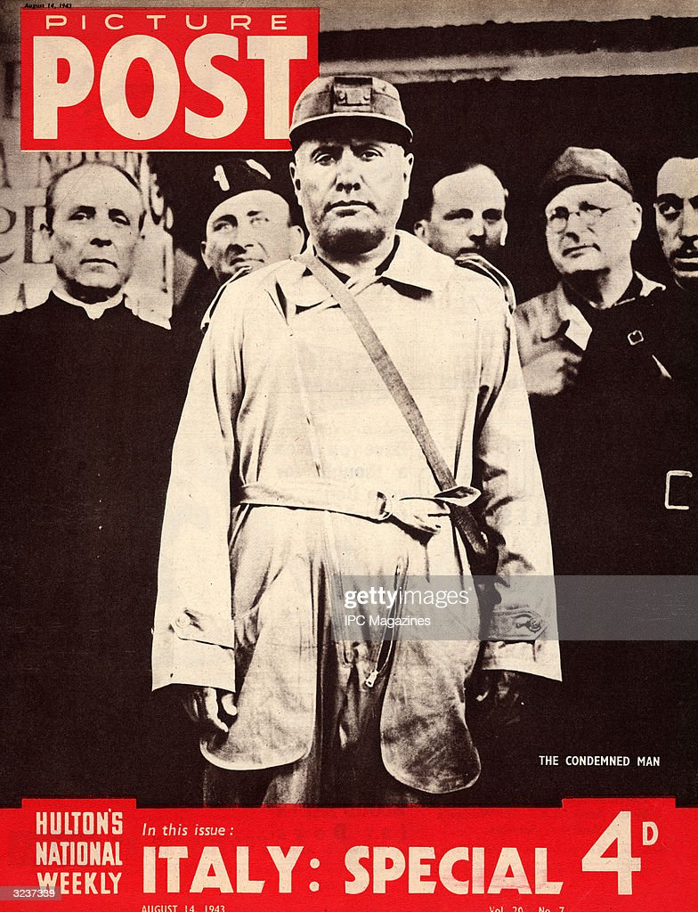 Italian dictator Benito Mussolini (1883 - 1945), 14th August 1943. The headline beneath reads 'Italy: Special'. Picture Post Cover - pub. 1943.